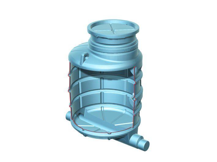 Studnia kanalizacyjna UNIVA-Standard LW 1000, wys. 2570 mm