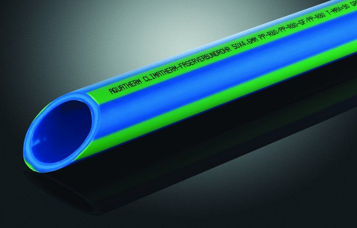 Rura CLIMATHERM STABI GLASS SDR 11, z PP-R, Ø 160 mm