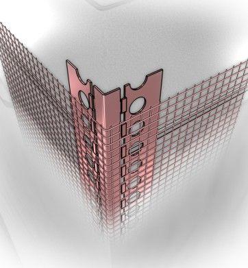 Narożnik aluminiowy NS z siatką