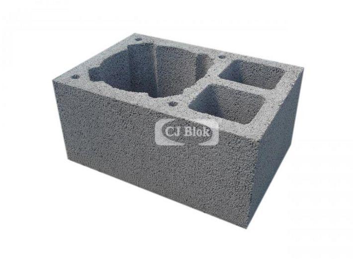 Pustak kominowo-wentylacyjny keramzyto-betonowy PKW 520/360/245 mm