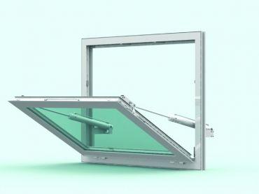 Fasadowe okno oddymiające CE011