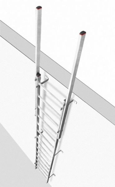 Drabina bez kosza montowana na stałe do obiektów budowlanych oraz maszyn i urządzeń C63xxx