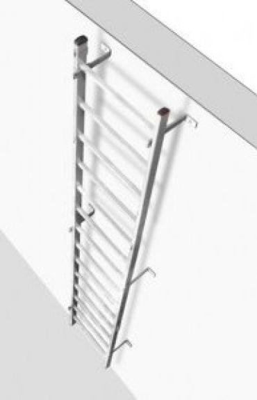Drabina szybowa do stosowania z szynowymi systemami ochrony przed upadkiem C72xxx