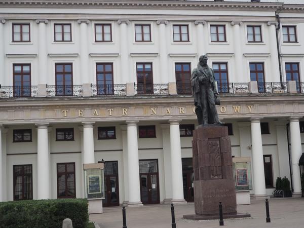 teatr narodowy, plac teatralny, Warszawa